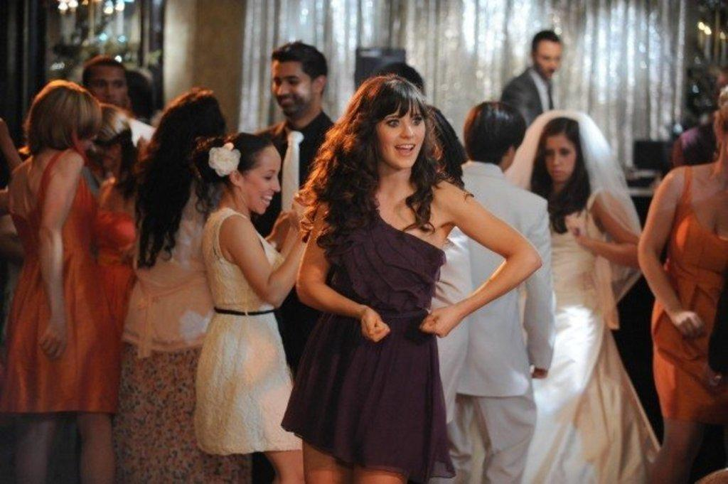 How to dress like jess from new girl for Zooey deschanel wedding dress