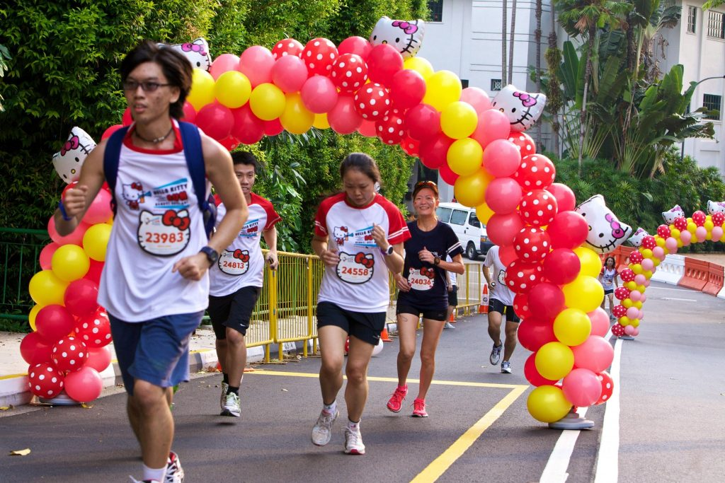 Runners at the Hello Kitty Run Singapore 2014