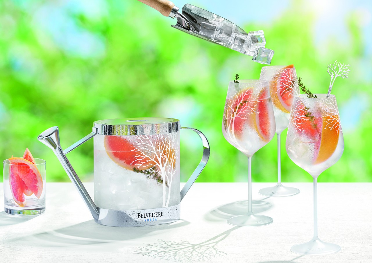 Belvedere Spritz with watering can