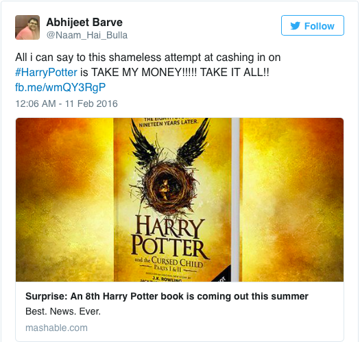 Harry Potter Book July : New harry potter book set for release in july lipstiq