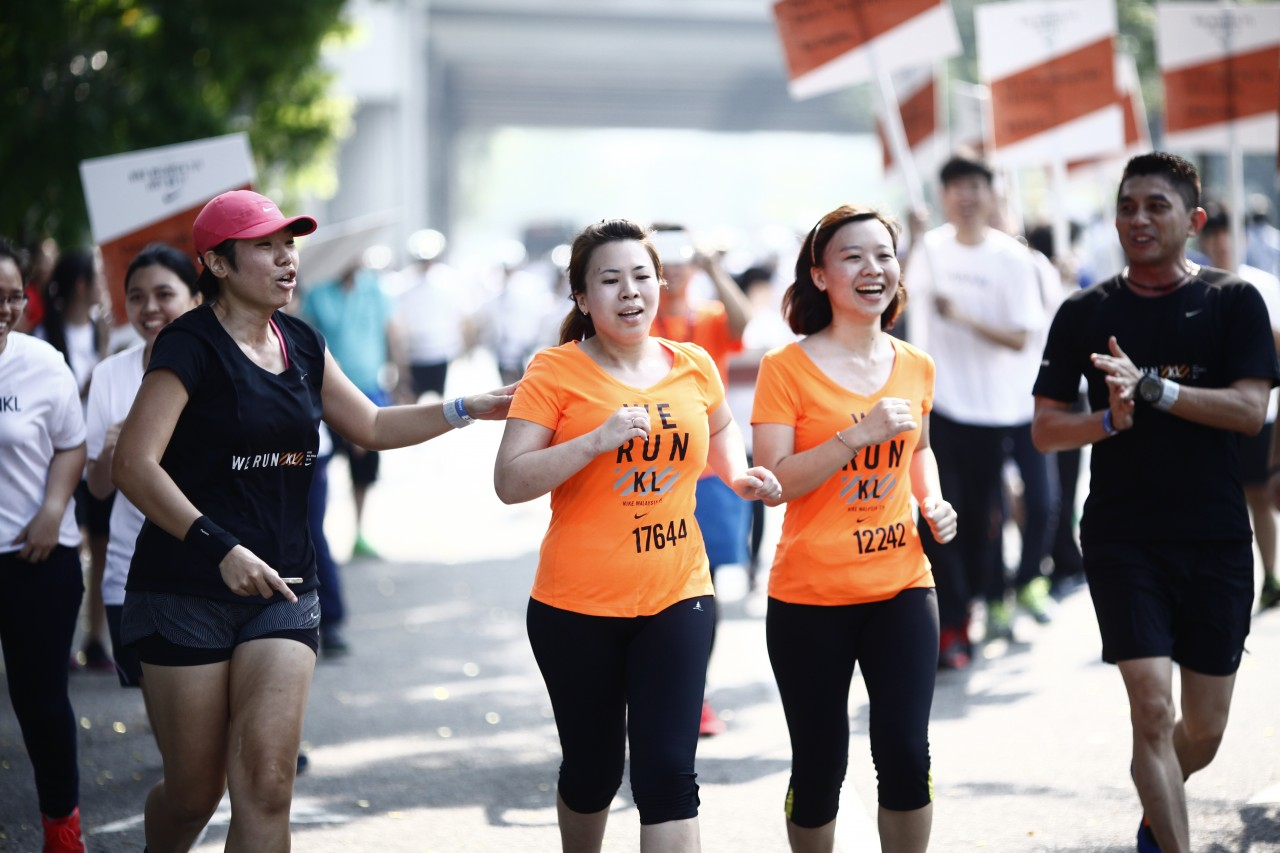 7. The Nike WE RUN KL crew kept the runners motivated till the very end