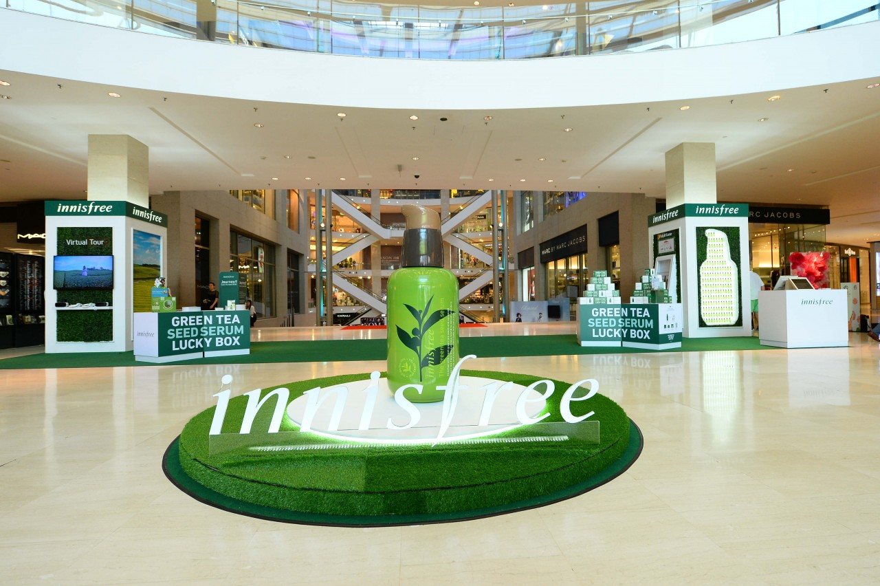 innisfree welcomes its fans and new friends with fanfare and fun experiential activities.
