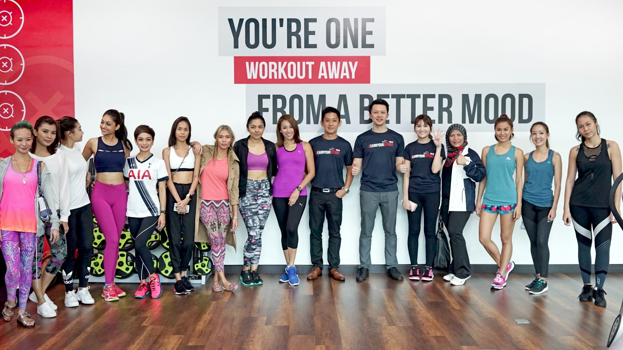 #BODYTONEMYZONE - Celebrity guests pose for a group photo with Bodytone founders