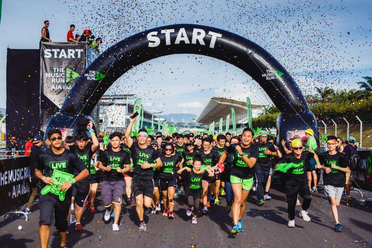 20,000 enthusiastic music runners flagged-off at the Sepang International Circuit