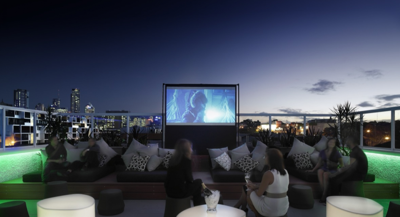 The roof terrace film club presents first outdoor cinema for Terrace theater movies