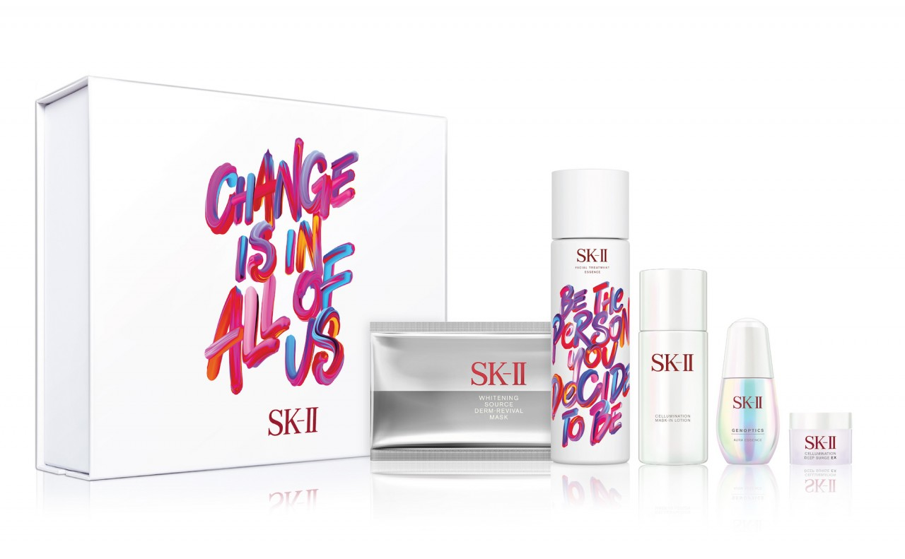 The Acclaimed Sk Ii Facial Treatment Essence Goes Boldly Edgy This Fte 30ml Power Radical New Age Cream Rna Radiant Aura Set Rm 1212 Comprises 230ml Genoptics Cellumination Mask In