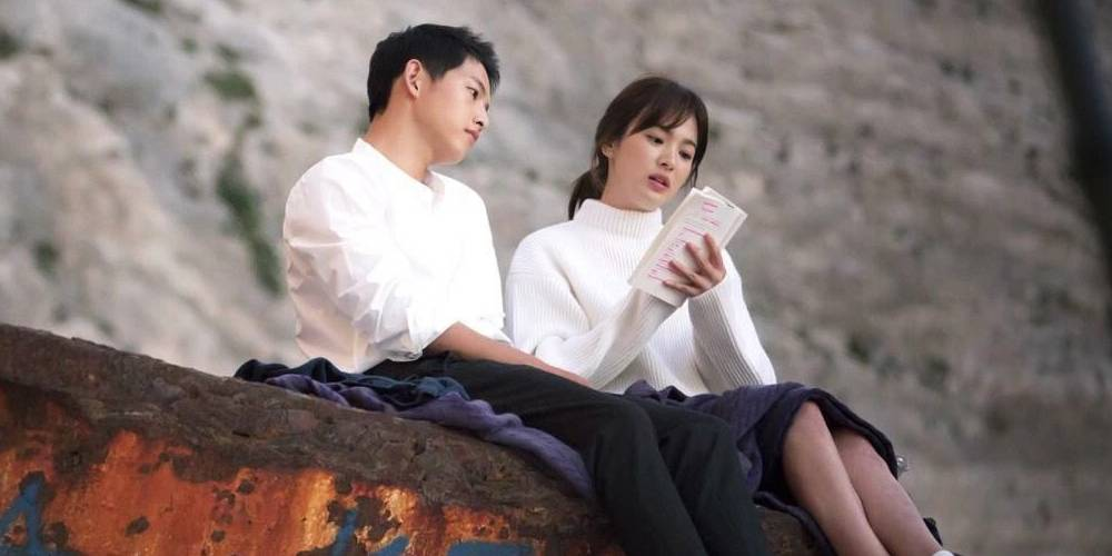 Newlyweds song joong ki song hye kyo spotted on - Descendants of the sun wallpaper hd ...