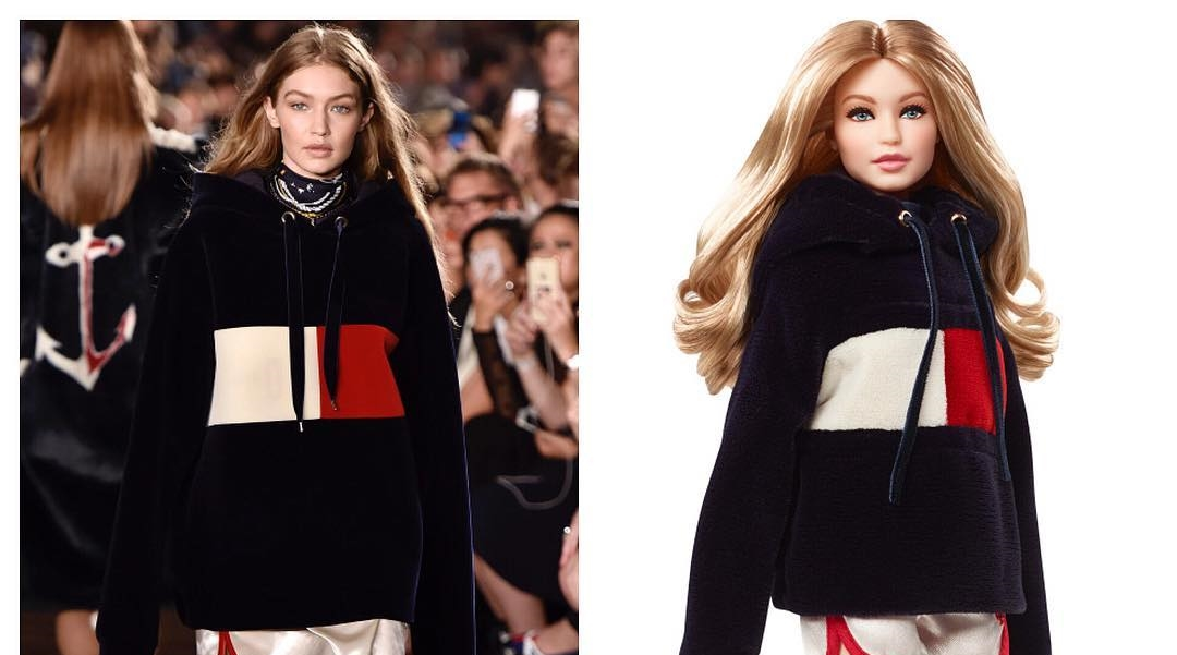 3635b320bf987 Gigi Hadid Has A Tommy Hilfiger Barbie   It Looks Exactly Like Her ...