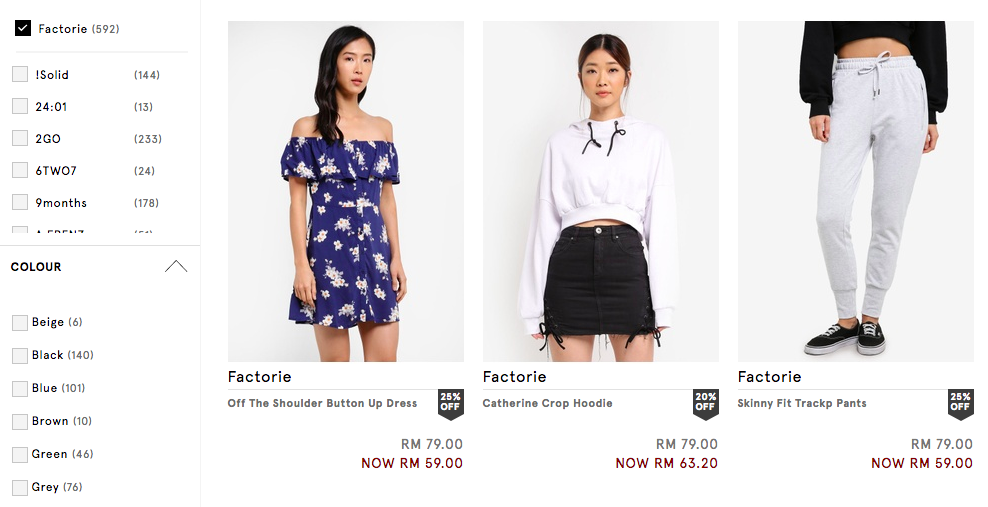 Online shopping factorie